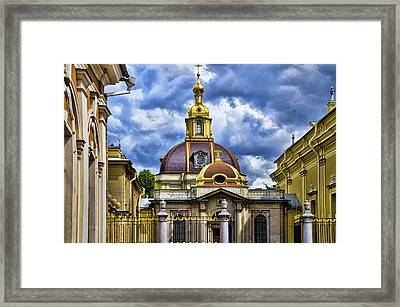 Cathedral Of Saints Peter And Paul - St. Petersburg Russia Framed Print by Jon Berghoff