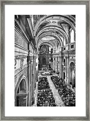 Catholic Mass Framed Print by Jose Elias - Sofia Pereira