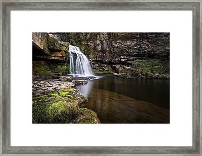 Cauldron Falls West Burton Framed Print by Chris Frost
