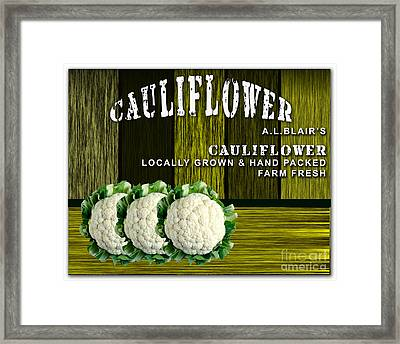Cauliflower Farm Framed Print by Marvin Blaine