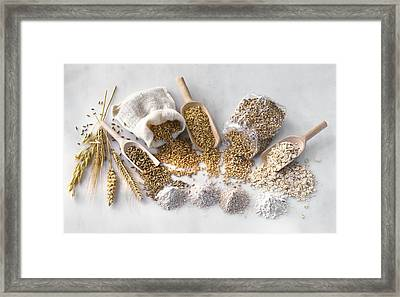 Cereal Crop Products Framed Print by Science Photo Library