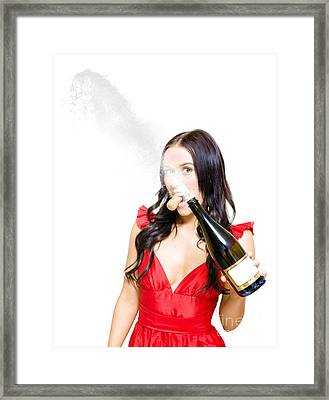 Champagne Celebration With A Splash Of Success  Framed Print by Jorgo Photography - Wall Art Gallery
