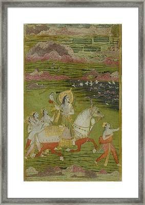 Chand Bibi Hawking Framed Print by Celestial Images