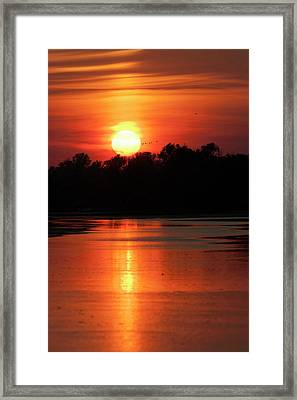 Channels And Lakes During Sunset Framed Print by Martin Zwick