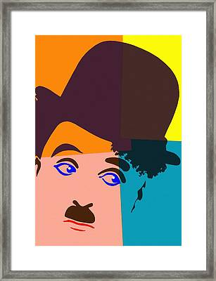 Charles Chaplin Charlot Framed Print by Art Cinema Gallery
