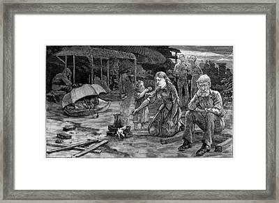 Charleston Earthquake Framed Print by Granger