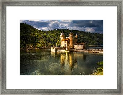 Chateau De La Roche Framed Print by Debra and Dave Vanderlaan