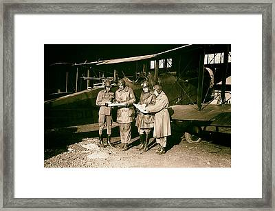 Checking Flight Plans 1920 Framed Print by Mountain Dreams