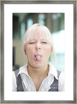 Cheeky Business Framed Print by Jorgo Photography - Wall Art Gallery