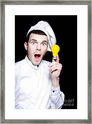 Chef With A Great Idea For A Winning Recipe Framed Print by Jorgo Photography - Wall Art Gallery