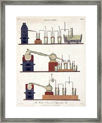Chemistry Equipment, Early 19th Century Framed Print by Science Photo Library
