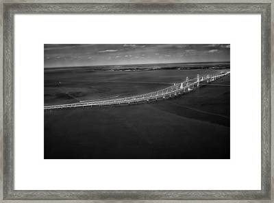 Chesapeake Bay Bridge Framed Print by Mountain Dreams