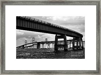 Chesapeake Bay Bridge  Framed Print by Skip Willits