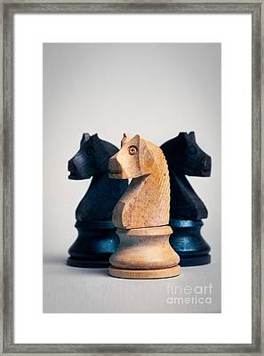 Chess Knights Framed Print by Mark Fearon
