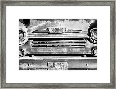 Chevrolet 31 Apache Pickup Truck Emblem Framed Print by Jill Reger