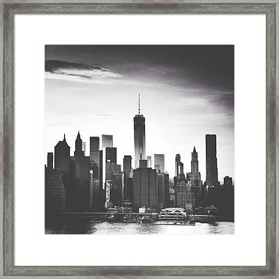 Chiaroscuro City Framed Print by Natasha Marco