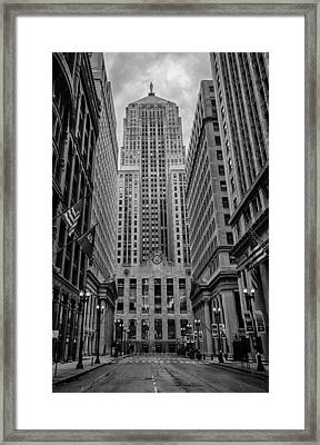 Chicago Board Of Trade Framed Print by Mike Burgquist