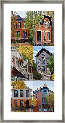 Chicago Historic Old Town Triangle Framed Print by Christine Till