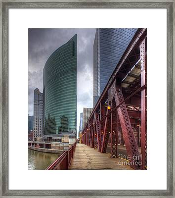 Chicago Loop From Lake Street Bridge Framed Print by Twenty Two North Photography