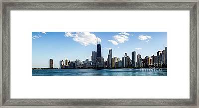 Chicago Panorama Skyline Framed Print by Paul Velgos