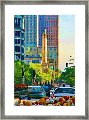 Chicago Water Tower Beacon Framed Print by Christopher Arndt