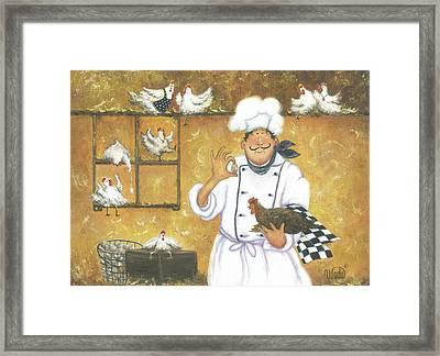 Chicken Chef Framed Print by Vickie Wade