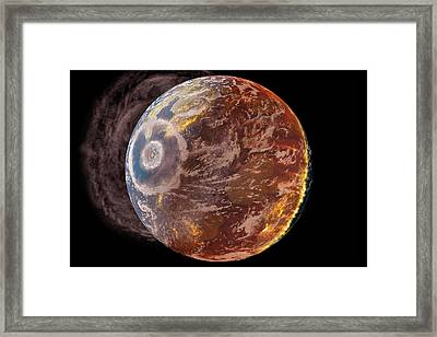 Chicxulub Impact Event Framed Print by Chris Butler