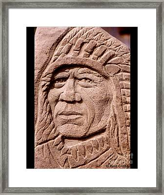Chief-iron-tail Framed Print by Gordon Punt