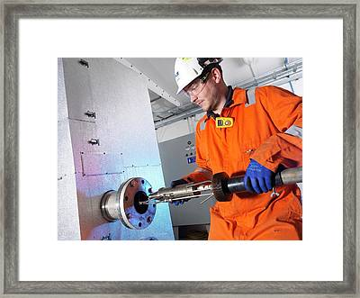 Chimney Stack Simulator Framed Print by Andrew Brookes, National Physical Laboratory