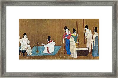 China Silk Manufacture Framed Print by Granger