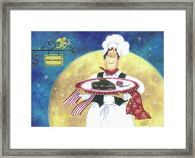 Chocolate Chef Framed Print by Vickie Wade