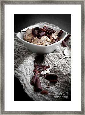 Chocolate Ice Cream Framed Print by Kati Molin