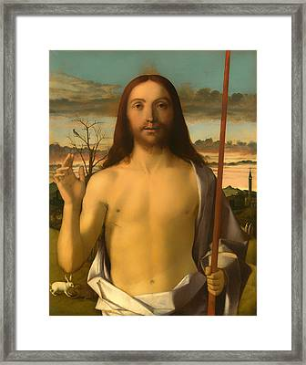 Christ Blessing Framed Print by Mountain Dreams