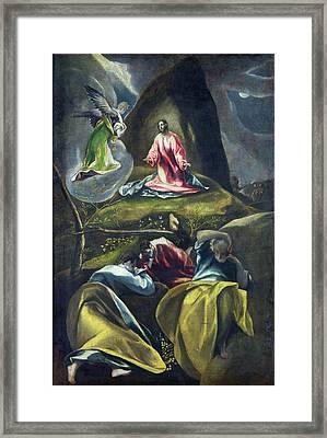Christ In The Garden Of Olives Framed Print by Celestial Images