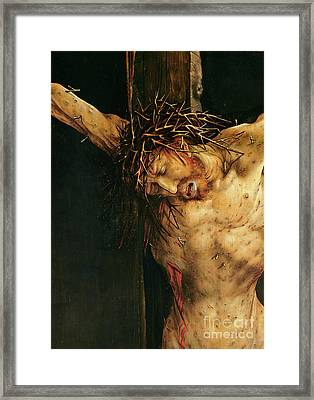 Christ On The Cross Framed Print by Matthias Grunewald