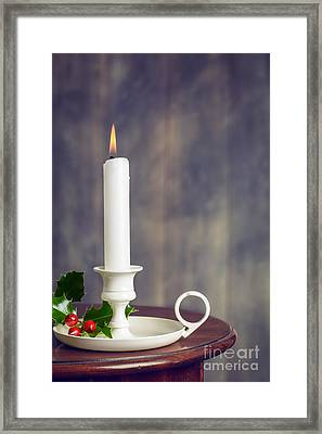 Christmas Candle Framed Print by Amanda And Christopher Elwell