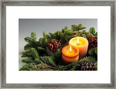 Christmas Candles Framed Print by Elena Elisseeva