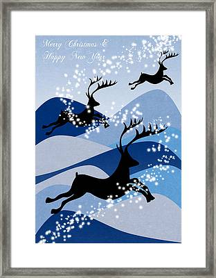 Christmas Card 2 Framed Print by Mark Ashkenazi