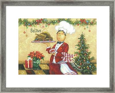 Christmas Chef Framed Print by Vickie Wade
