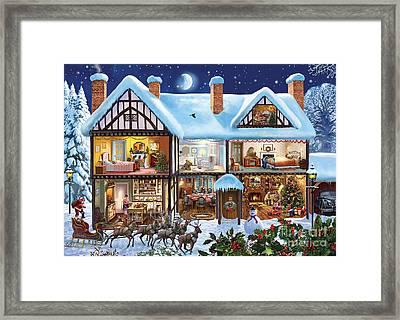 Christmas House Framed Print by Steve Crisp