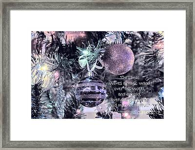 Christmas Magic Framed Print by Peggy Hughes