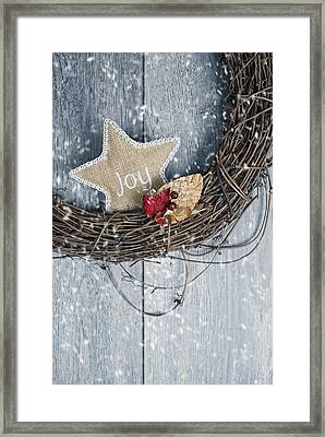 Christmas Wreath Framed Print by Amanda Elwell