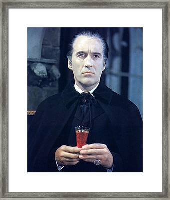 Christopher Lee In Taste The Blood Of Dracula  Framed Print by Silver Screen