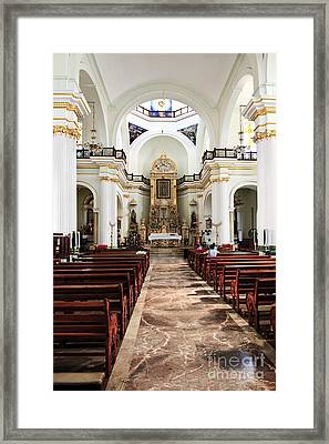 Church Interior In Puerto Vallarta Framed Print by Elena Elisseeva