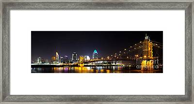 Cincinnati Ohio  Skyline Framed Print by Twenty Two North Photography