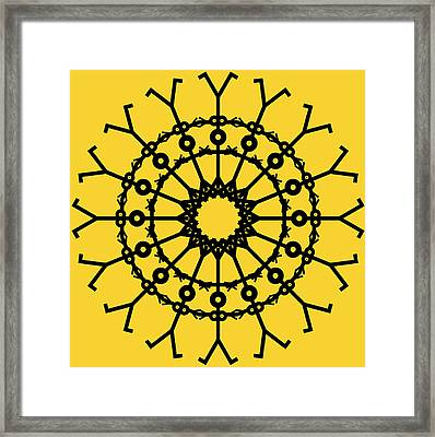 Circle 2 Icon Framed Print by Thisisnotme