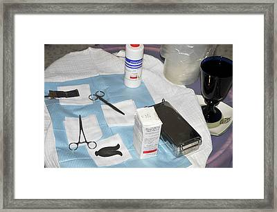 Circumcision - Brit Mila Ceremony Framed Print by Photostock-israel