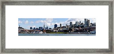 City At The Waterfront, Coit Tower Framed Print by Panoramic Images