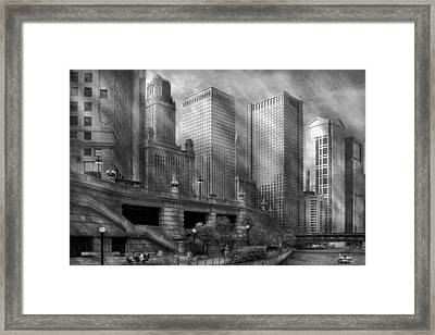City - Chicago Il - Continuing A Legacy Framed Print by Mike Savad