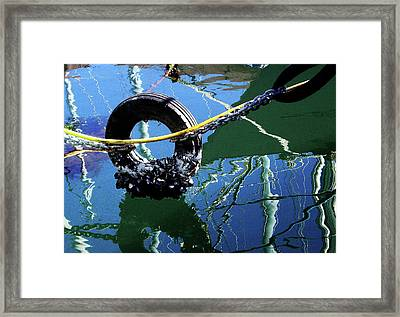 Clams On A Tire Framed Print by Xueling Zou